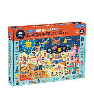 Mudpuppy Mudpuppy   Search & Find Puzzle   Air and Space   64 pieces   4+