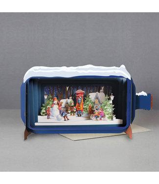 Alljoy   Message in a Bottle   3D   Pop-up Kerstkaart   Sending Christmas Cards