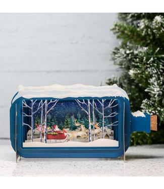 Alljoy   Message in a Bottle   3D   Pop-up Kerstkaart   Santas Sleigh