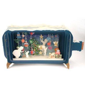 Alljoy   Message in a Bottle   3D   Pop-up Kerstkaart   Christmas Baubles