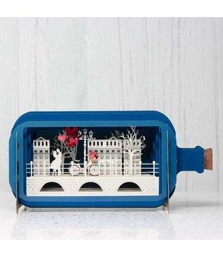 Message in a Bottle   3D   Pop-up kaart   Couple on Bridge