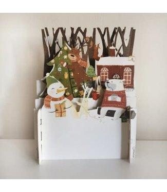 Alljoy Design   3D   Pop-up Kerstkaart   Christmas in the Wood