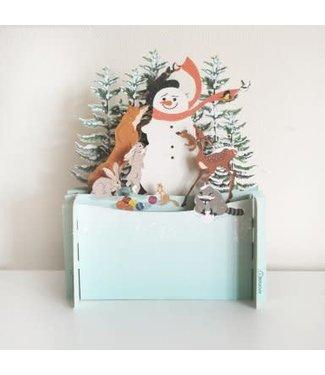 Alljoy Design   3D   Pop-up Kerstkaart   Snowman