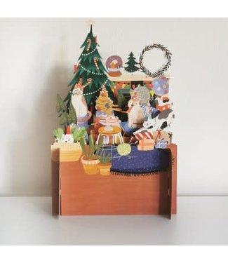 Alljoy Design   3D   Pop-up Kerstkaart   Merry Catty Christmas
