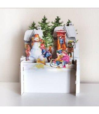 Alljoy Design   3D   Pop-up Kerstkaart   Posting the Christmas Cards