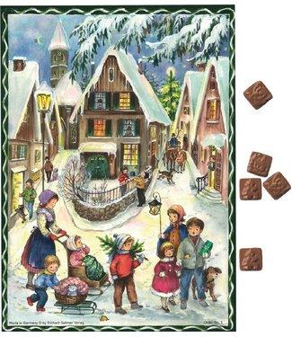 Sellmer   Adventskalender   met Chocola   35 x 25 cm