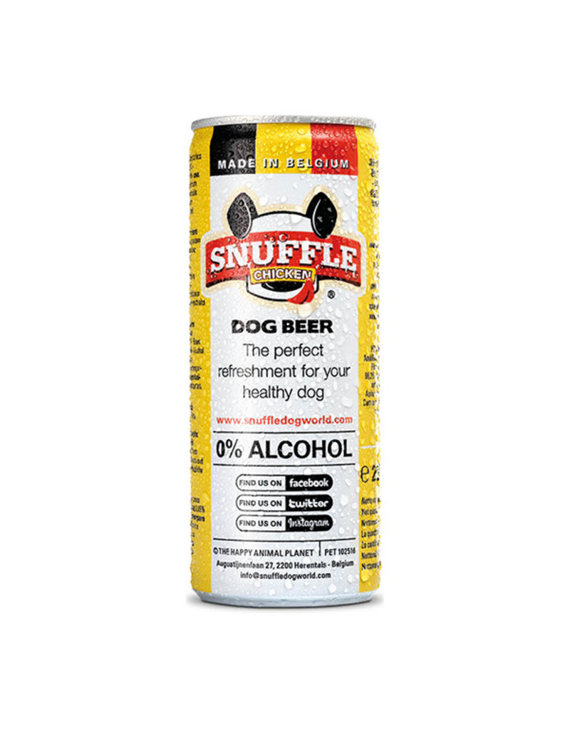 Snuffle Chicken Dog Beer Can