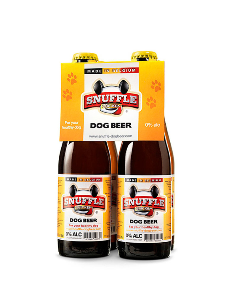 Snuffle Chicken Dog Beer 4-pack Bottles