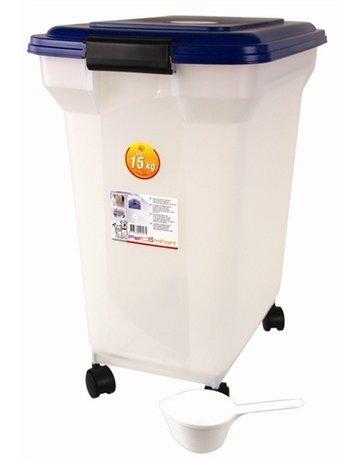 Merkloos Bewaarcontainer luchtdicht transparant/blauw