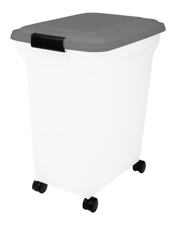 Merkloos Bewaarcontainer luchtdicht transparant / grijs