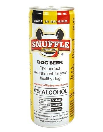 Snuffle Snuffle hondenbier kipsmaak in blik