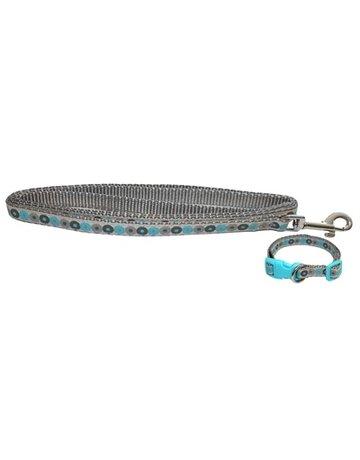 Little rascals Little rascals puppy halsband met lijn blauw