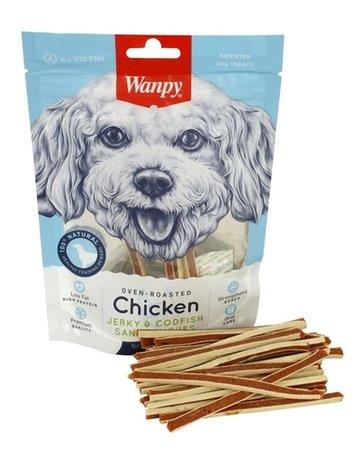 Wanpy Wanpy oven-roasted chicken jerky / codfish sandwiches