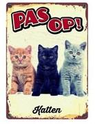 onbekend Waakbord Pas Op Katten!
