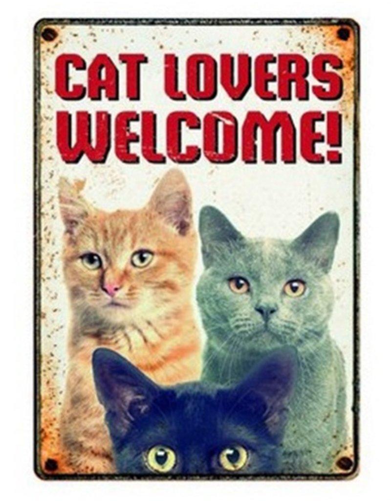 onbekend Waakbord Cat Lovers Welcome