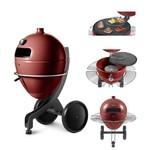 POQ pellet grill PBQ Grill in Rode Teflon