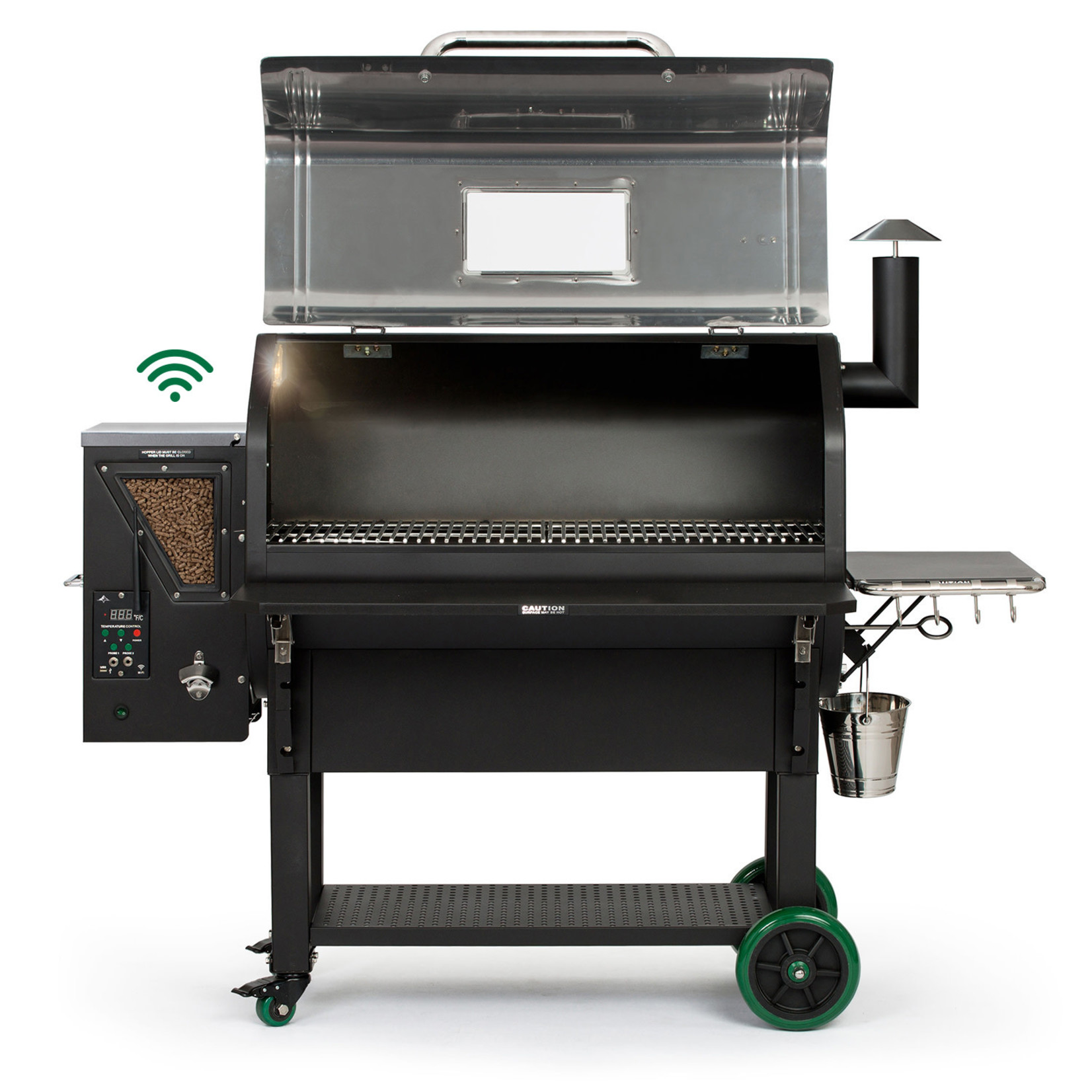 Green Mountain Grill Green Mountain Grill Peak Prime pellet grill wifi verlichting  RVS