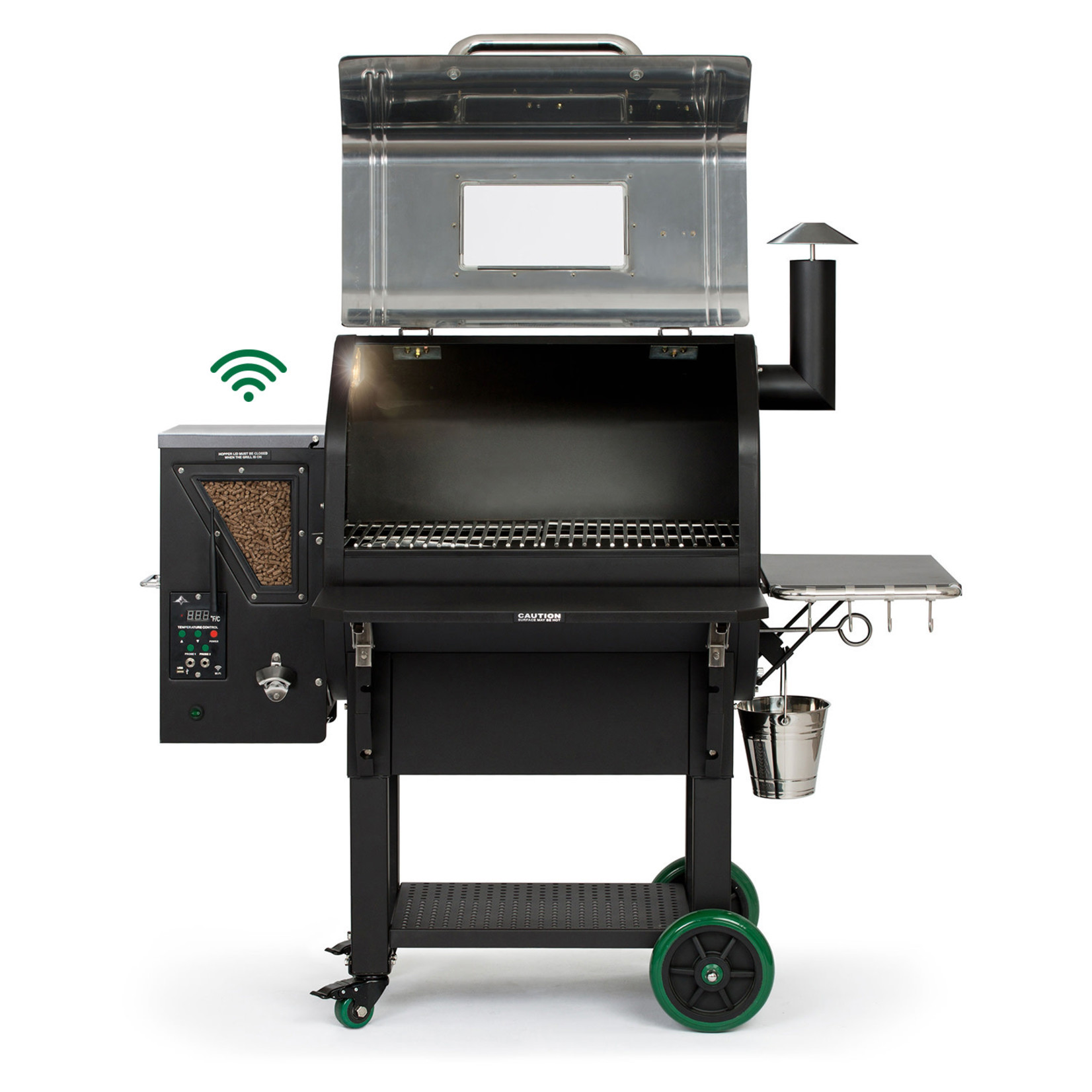 Green Mountain Grill Green Mountain Grill Ledge Prime pellet grill wifi verlichting RVS