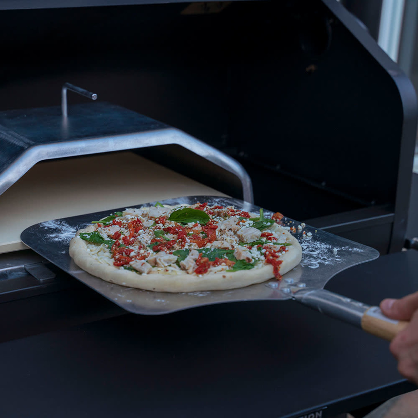 Green Mountain Grill GMG Pizza Schep groot