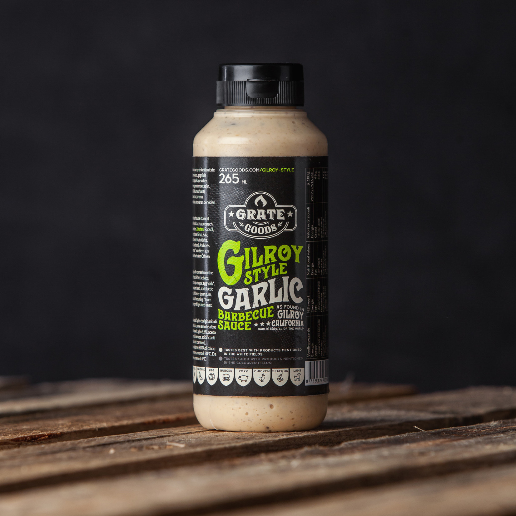 Grate Goods Gilroy Garlic Barbecue saus 265 ml Grate Goods