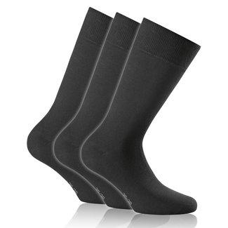 ROHNER 3er Pack Socken schwarz