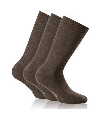 ROHNER 3er Pack Socken BRAUN
