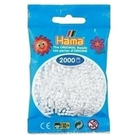 Hama mini strijkkralen wit 0001