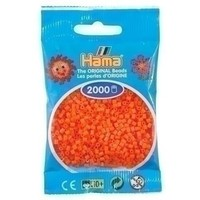 Hama mini strijkkralen oranje 0004