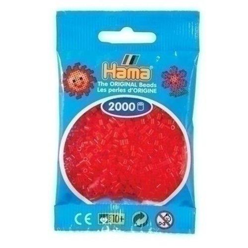Hama Hama mini strijkkralen rood doorzichtig 0013