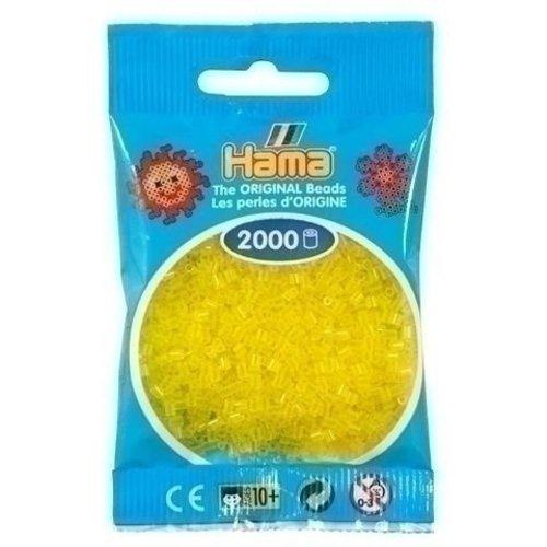 Hama Hama mini strijkkralen geel doorzichtig 0014