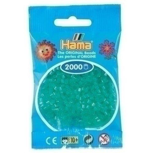 Hama Hama mini strijkkralen groen doorzichtig 0016