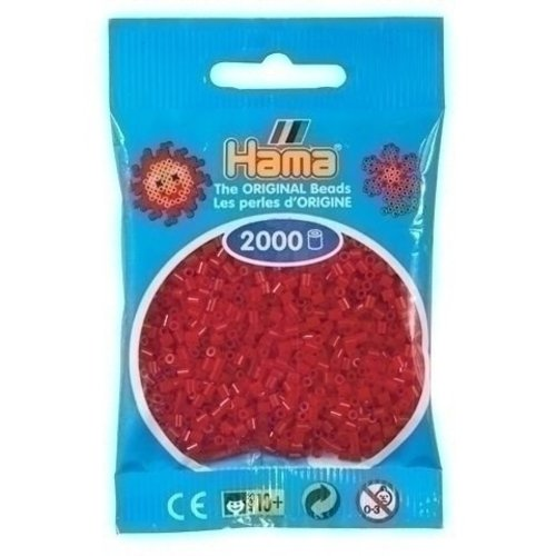 Hama Hama mini strijkkralen donkerrood 0022