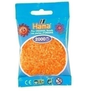 Hama Hama mini strijkkralen orange neon 0038