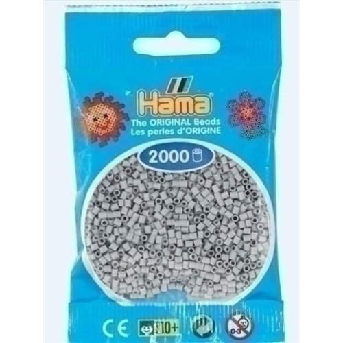 Hama Hama mini strijkkralen lichtgrijs 70
