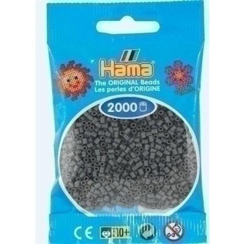 Hama Hama mini strijkkralen donkergrijs 71