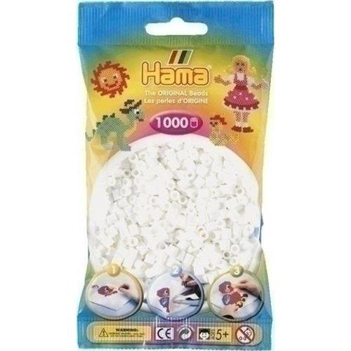 Hama Hama Strijkkralen 0001 wit 1000 st.