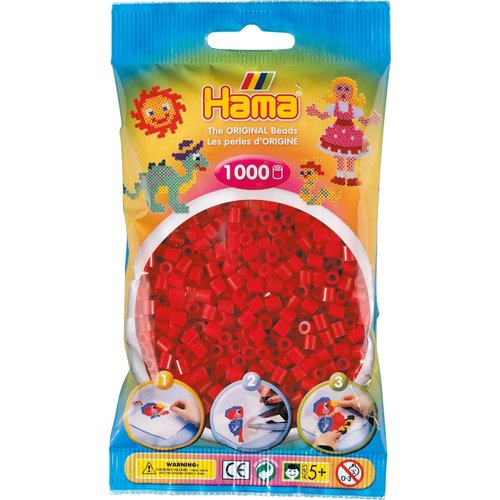 Hama Hama Strijkkralen 0022 donkerrood 1000 st.