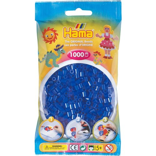 Hama Hama Strijkkralen 0036 blauw neon 1000 st.