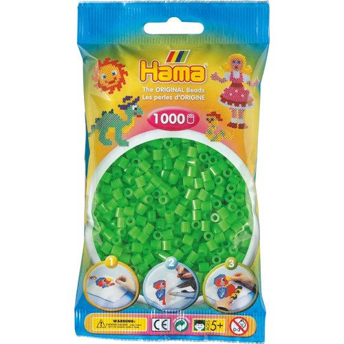 Hama Hama Strijkkralen 0042 groen fluor 1000 st.