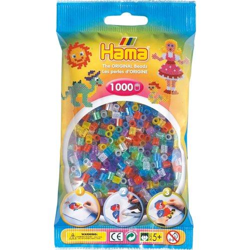 Hama Hama Strijkkralen 0054 glitter gemengd 1000 st.