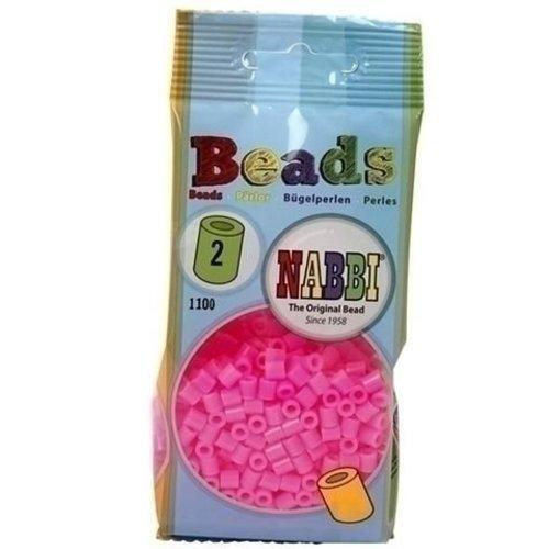 Nabbi Nabbi strijkkralen neon roze 1100 stuks nr 2