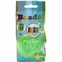 Nabbi strijkkralen neon groen 1100 st nr 25