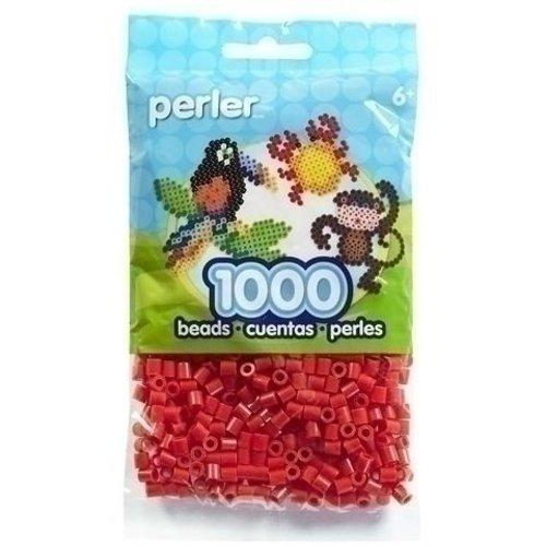 Perler Perler midi strijkkralen rood 1000 st 80-19005