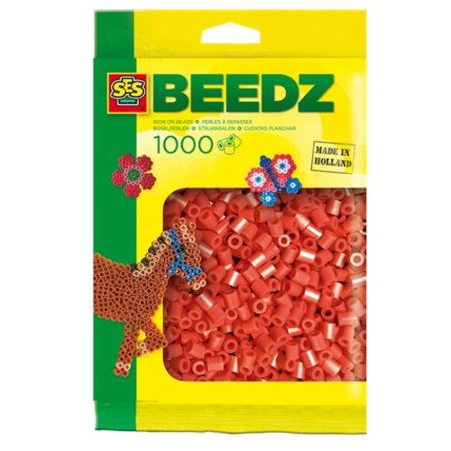 Ses Ses strijkkralen rood 1000 st 00702