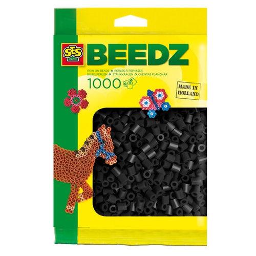 Ses Ses strijkkralen zwart 1000 st 00706