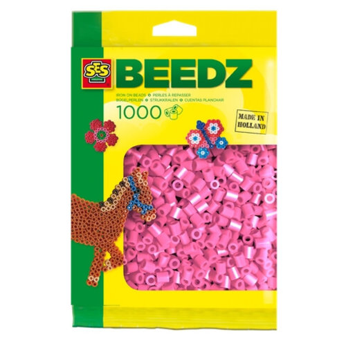 Ses Ses strijkkralen roze 1000 st 00708