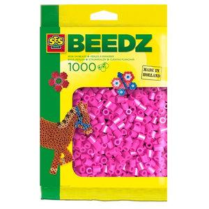 Ses Ses strijkkralen neon roze 1000 st 00718