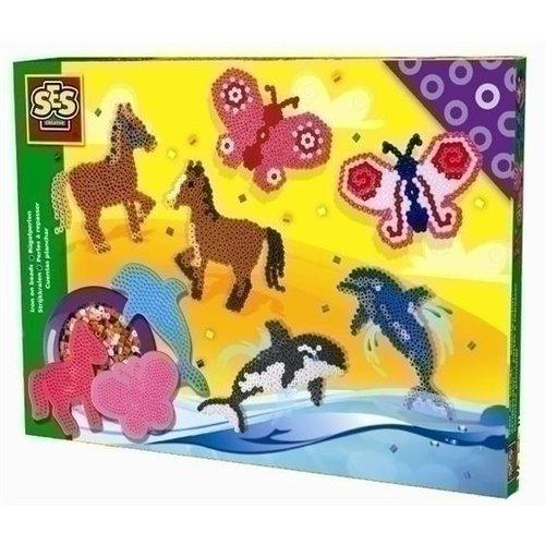 Ses Ses strijkkralen paard vlinder en dolfijn 06127