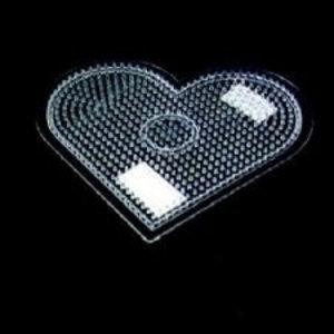Hama Strijkkralen grondplaat hart groot transp. 2330