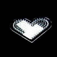 Strijkkralen Grondplaat hart klein transp 2360